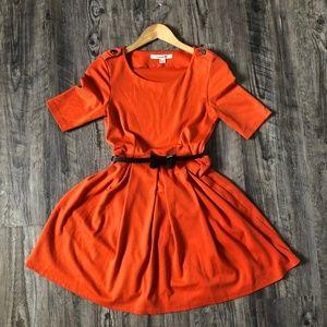 Forever 21 Orange Fall Dress